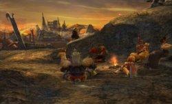 Les personnages principaux sont réunis autour du feu