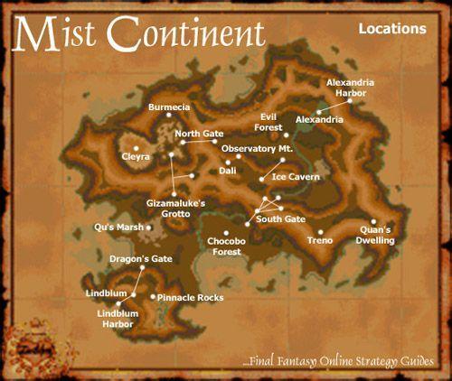 Carte du monde de Final fantasy IX