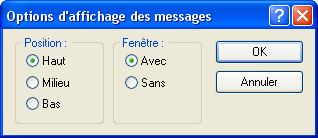 Option d'afichage des messages...