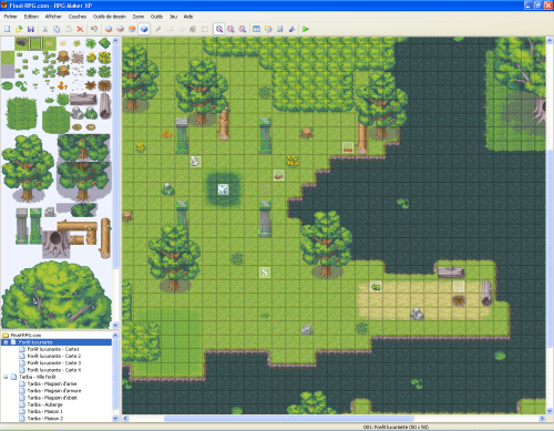 Interface de création de RPG Maker XP